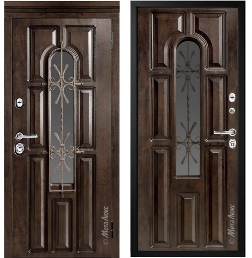 Steel entrance doors with glass for the house CM60