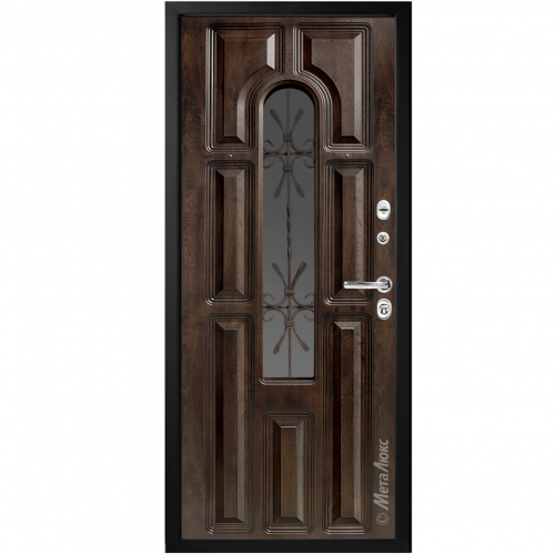 Steel entrance doors with glass for the house CM60 METALUKS