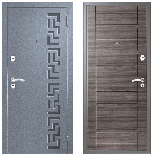 Metāla durvis M202 pelēkas