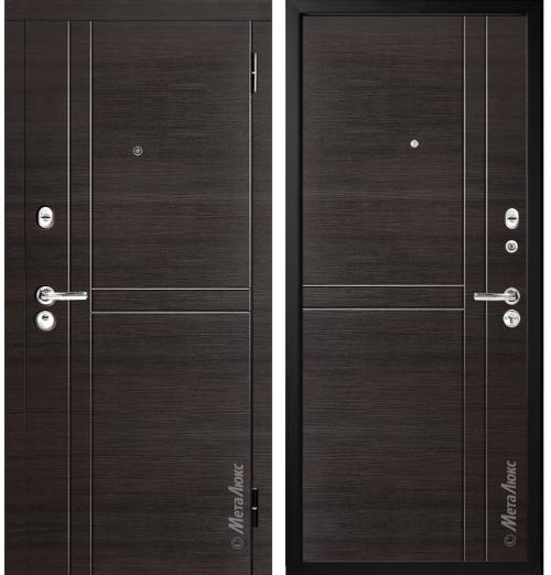 Metal doors for an apartment
