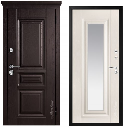 Steel doors for an apartment M601Z