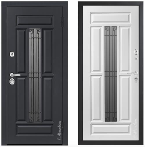 Металлические двери со стеклом, для дома