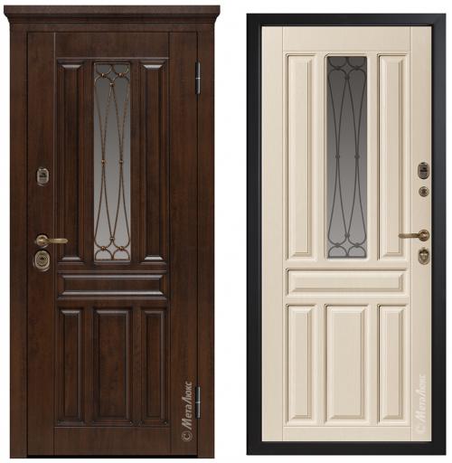 Металлические двери со стеклом для дома