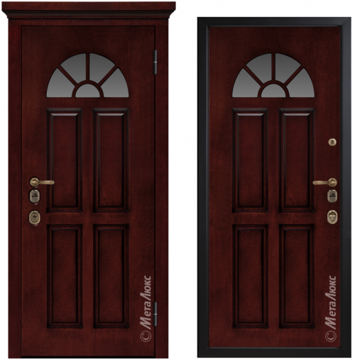 Metal door for house with glass CM1708/10