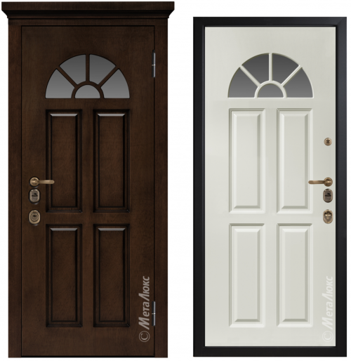 Metal door for house with glass CM1708/6 E2