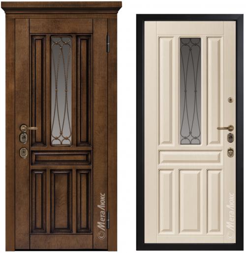 Входные металлические двери со стеклом CM1711/15