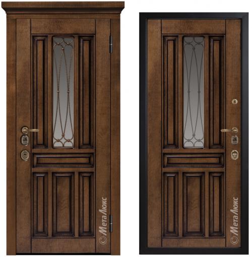 Входные металлические двери со стеклом CM1711/9