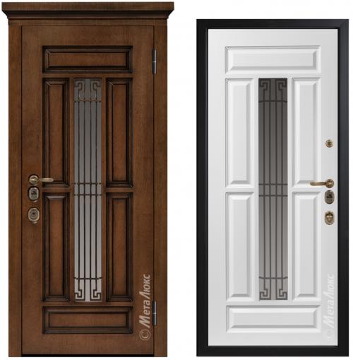 Входные металлические двери со стеклом CM1712/3 E2
