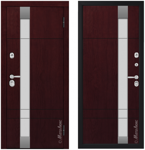 Входные металлические двери со стеклом CM431/10