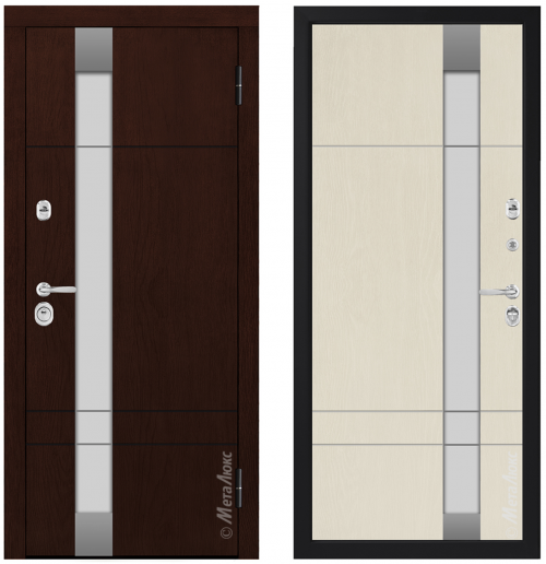 Metal door for house with glass CM431/21