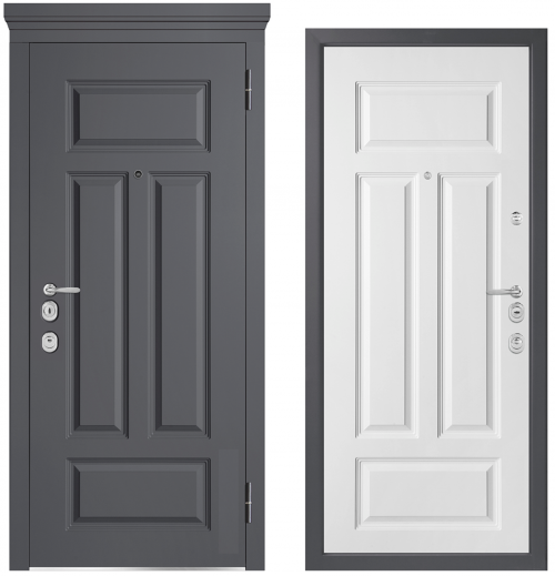 Metal doors for an apartment or house M1002/5 E