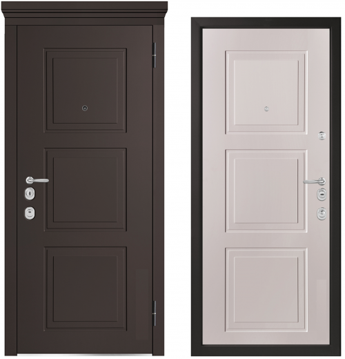 Metal doors for an apartment or house M1010/10 E