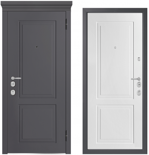 Metal doors for an apartment or house M1012/5 E