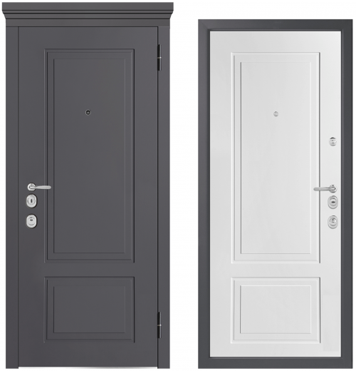 Metal doors for an apartment or house M1013/5 E