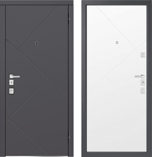 Metal doors for an apartment M1100/5