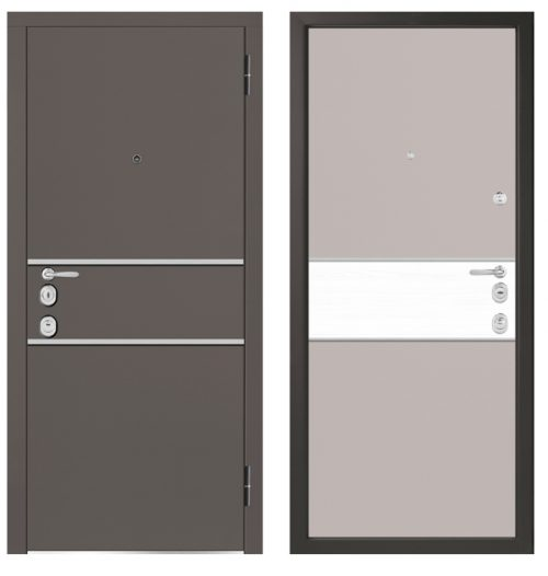 Metal doors for an apartment M1402/1