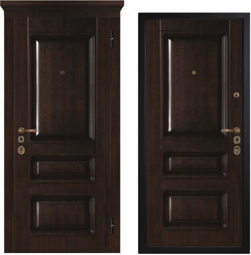 Matāla ārdurvis dzīvoklim vai mājai klasiskajā izpildījumā, modelis M1005