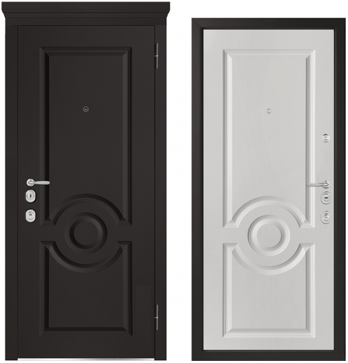 Metal doors for an apartment or house M1000/1 E
