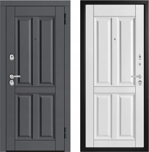 Moisture-resistant metal entrance doors M443/5 E