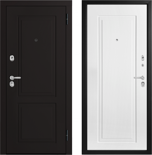 Moisture-resistant metal entrance doors M444/2 E