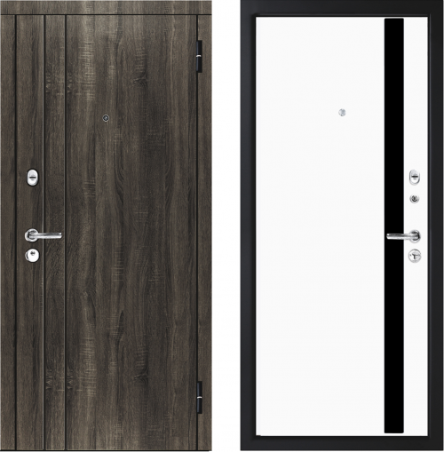 Metal doors M33/4 for an apartment from M-Lux.