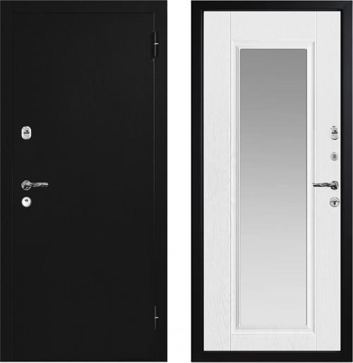 Metal entrance doors with mirror M742 Z