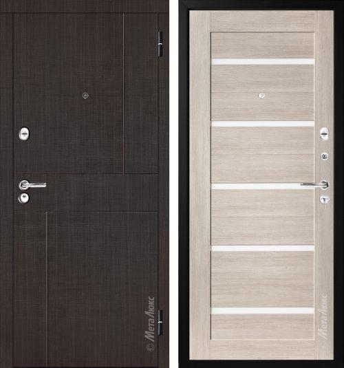 Metal doors with decor M329