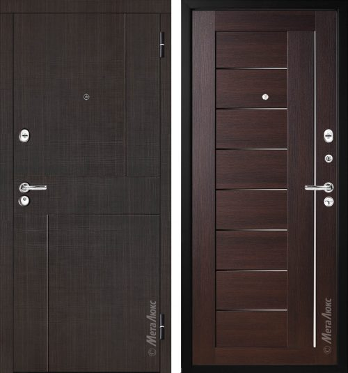 Metal doors with decor M330
