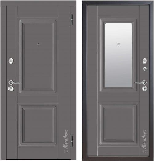 Metal door for apartment with mirror M34/7Z