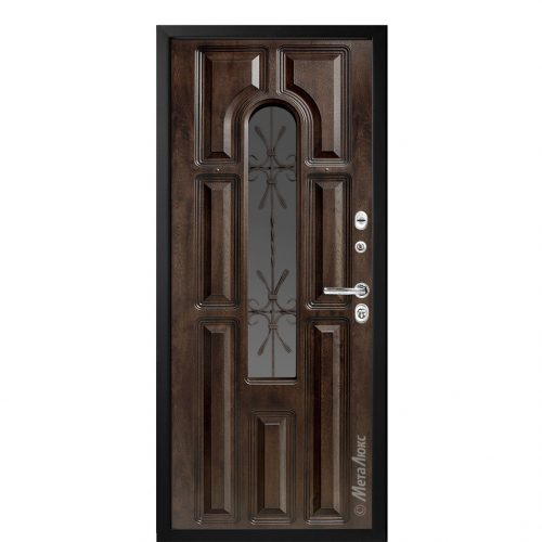 Steel entrance doors with glass for the house CM360