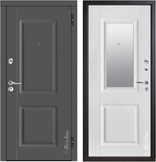 Metal doors with mirror M434/8Z