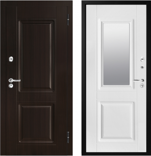 Metal doors with mirror M434/2Z