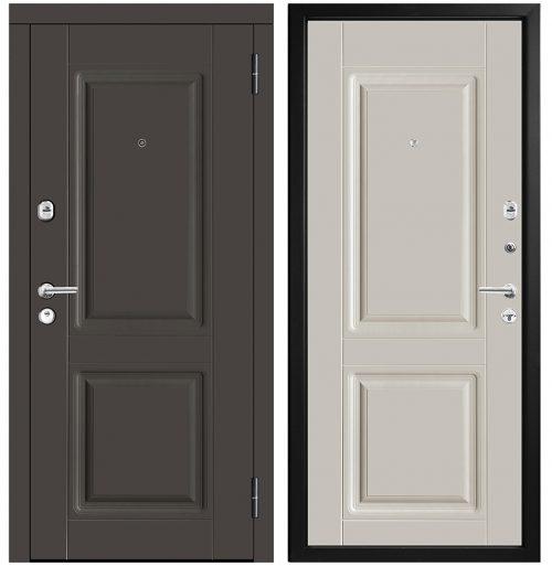 Metāla durvis ar mdf apdari un 3 blīvējumiem M434/10