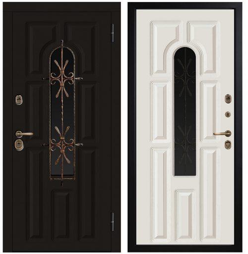 Metāla durvis ar stiklu CM370/1 E1