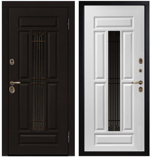 Metāla durvis ar stiklu CM386/2 E1