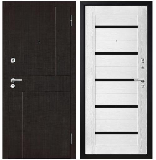 Metāla durvis dzīvoklim ar mdf apdari modelis M326
