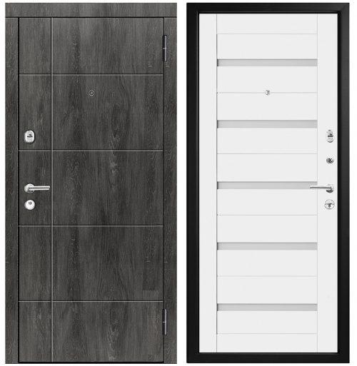 Metāla durvis dzīvoklim ar mdf apdari modelis M439/4