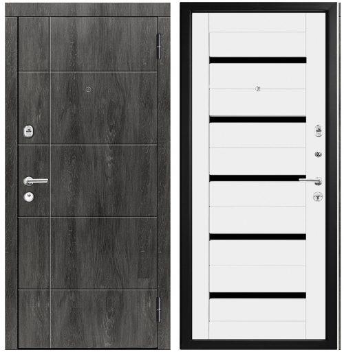 Metāla durvis dzīvoklim ar mdf apdari modelis M439/5