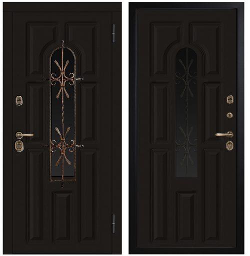 Metāla durvis ar stiklu un termopārrāvumu CM370/E1