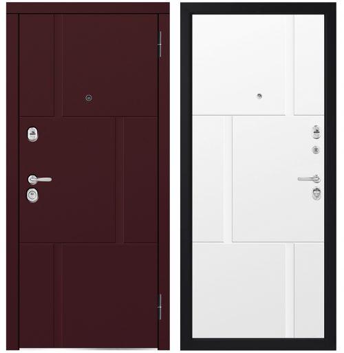 Mitrumizturīgas metāla ārdurvis mājai ar mūsdienīgu krāsojumu emaljā M733/14E.