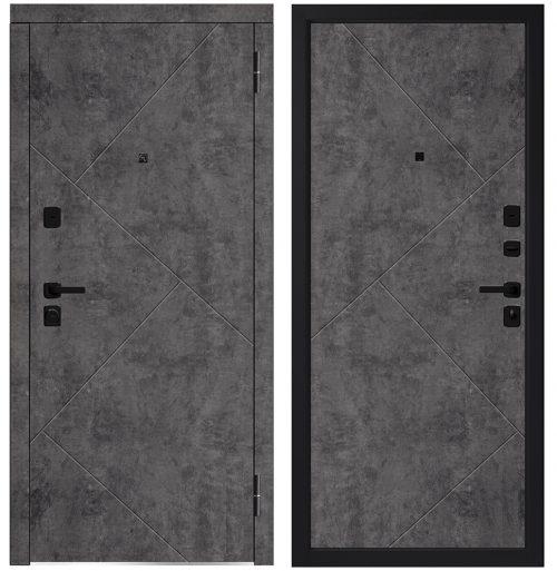 Metāla durvis dzīvoklim M746/12