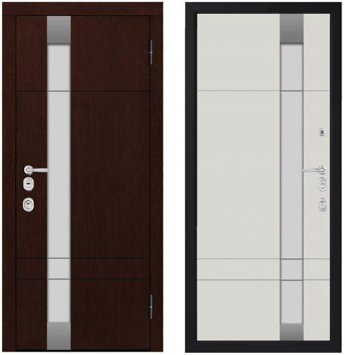 Metāla durvis mājai CM1713/6 E2 ar stiklu|Metāla durvis mājai CM1713/14 ar stiklu