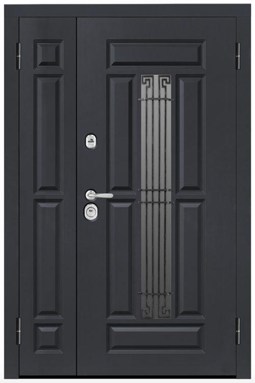 nestandarta izmēra metāla ārdurvis privātmājai|Nestandarta metāla durvis mājai ar stiklu