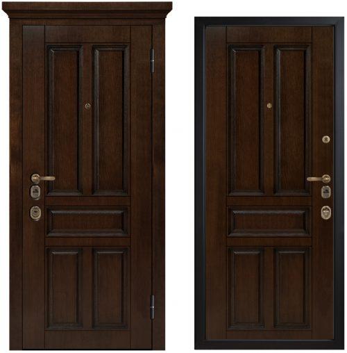 Metāla durvis ar ūdensizturīgu ArtWood apdari