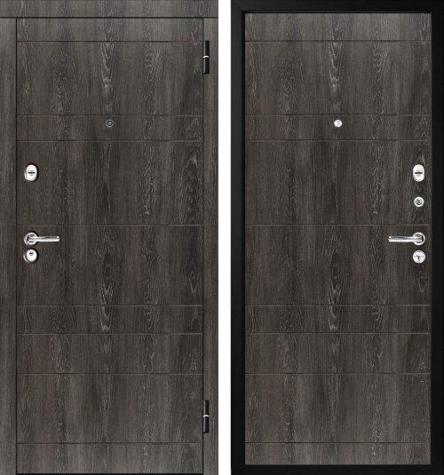  Metāla durvis ar mūsdienīgu krāsu Šato ozols, cena tikai 347,00 Eur Quality metal doors M350/5 Мetāla durvis ar mdf, krāsa šato ozols  