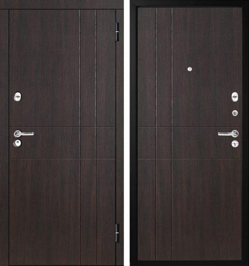|metāla ārdurvis tumšs rieksts|Metal doors M-Lux for the apartment M351|Metāla ārdurvis ar krāsu tumšs rieksts||