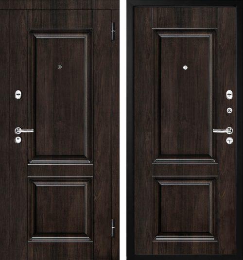  brūnas metāla ārdurvis mājai un dzīvoklim Metal door for apartment or house  M-Lux M380/2 Brūnas metāla ārdurvis M-Lux M380/2  