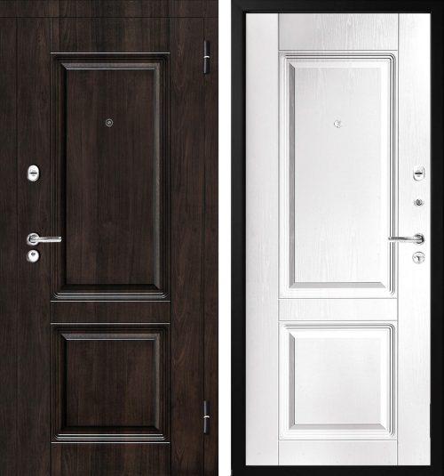 |brūnas skaistas metāla durvis mājai vai dzīvoklim|Metal doors M-Lux M380/3|Мetāla ārdurvis M-Lux M380/3||