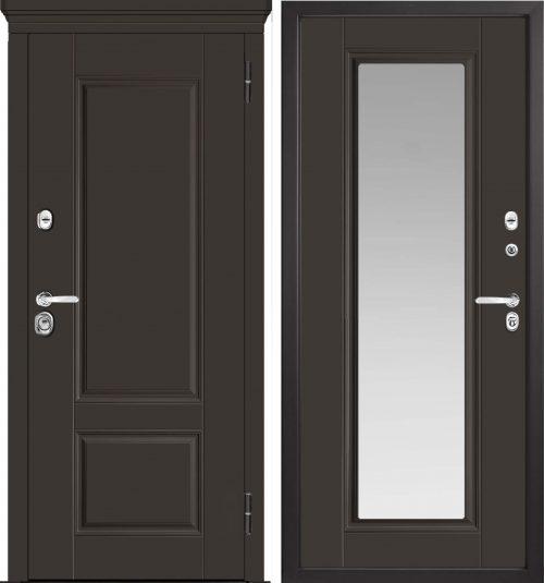 |Metāla durvis dzīvoklim ar spoguli M-Lux M730/3Z