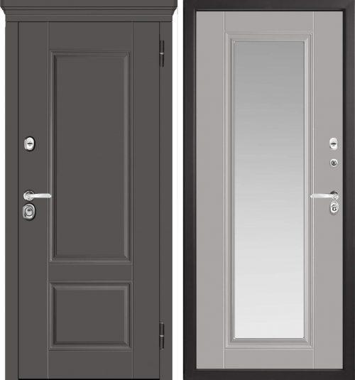 |Metāla durvis ar spoguli